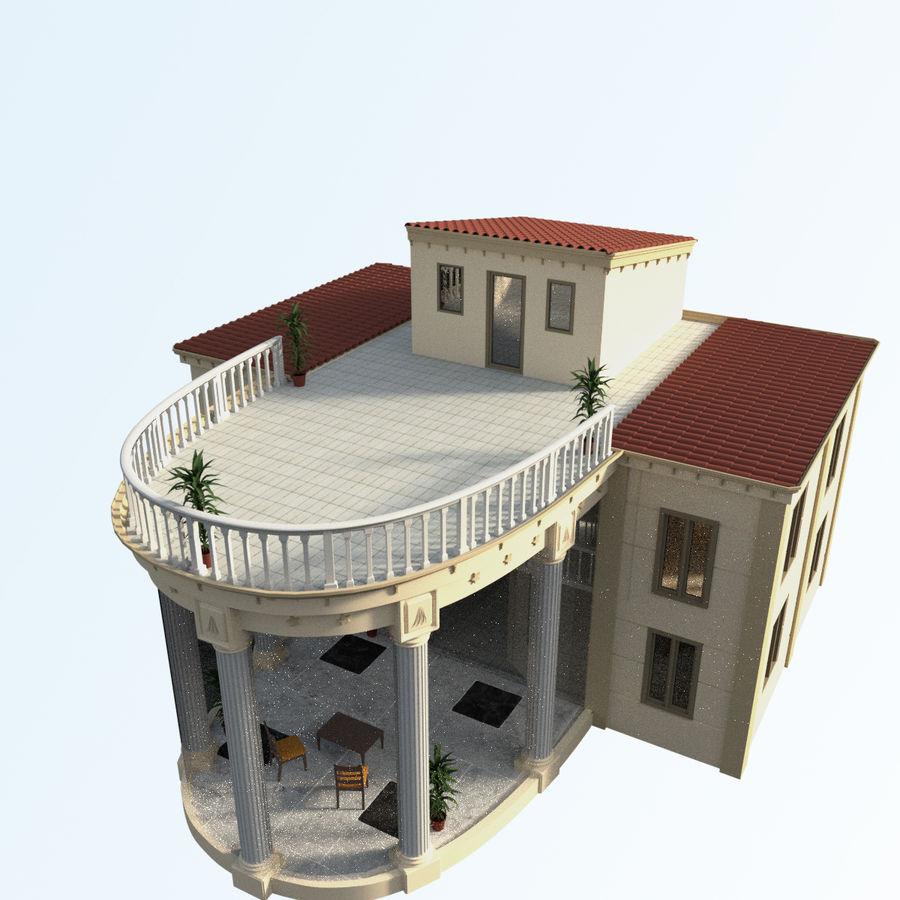 Villa_House_Interior ed Exterior royalty-free 3d model - Preview no. 5