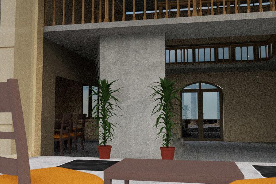 Villa_House_Interior ed Exterior royalty-free 3d model - Preview no. 9