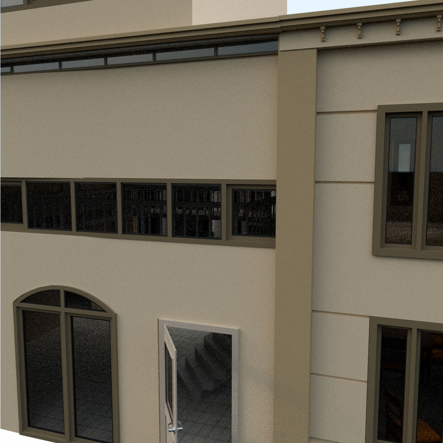 Villa_House_Interior ed Exterior royalty-free 3d model - Preview no. 3