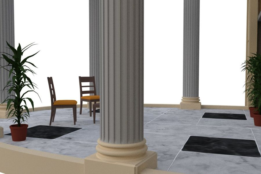 Villa_House_Interior ed Exterior royalty-free 3d model - Preview no. 11
