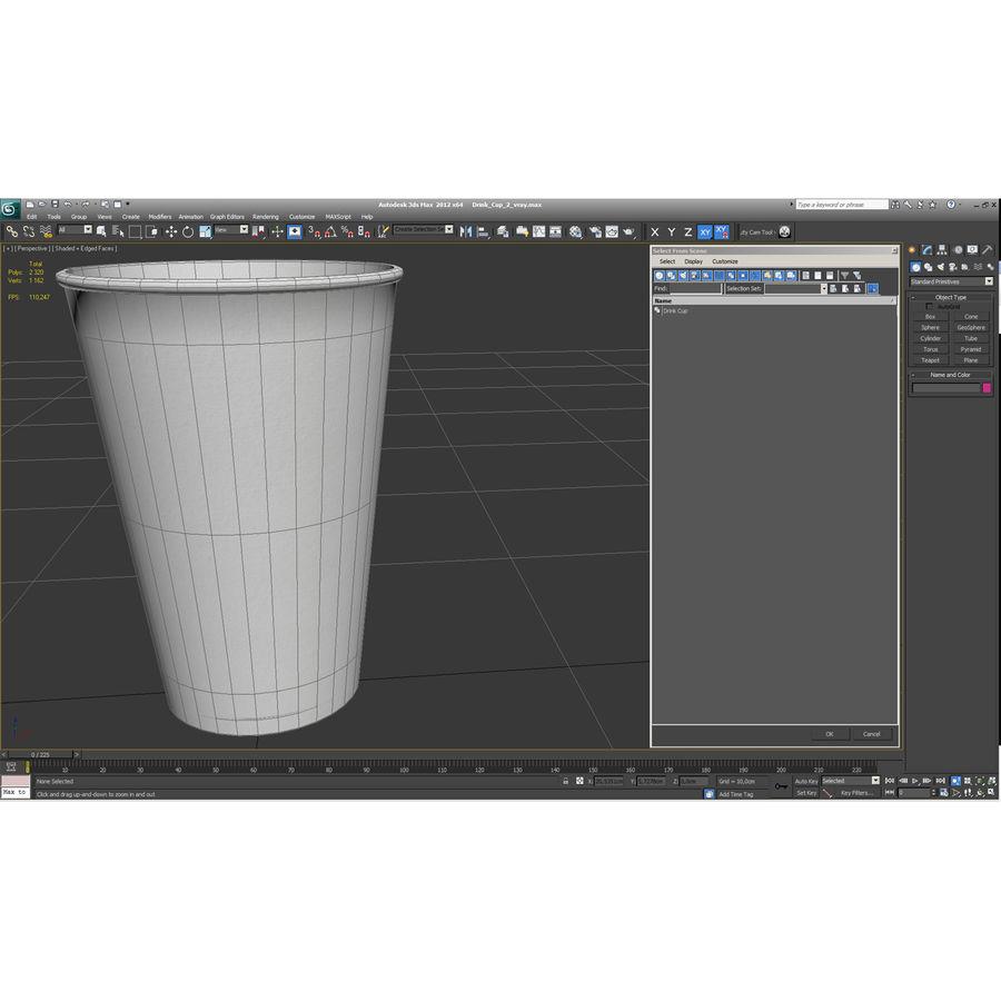 İçki bardağı 2 royalty-free 3d model - Preview no. 19