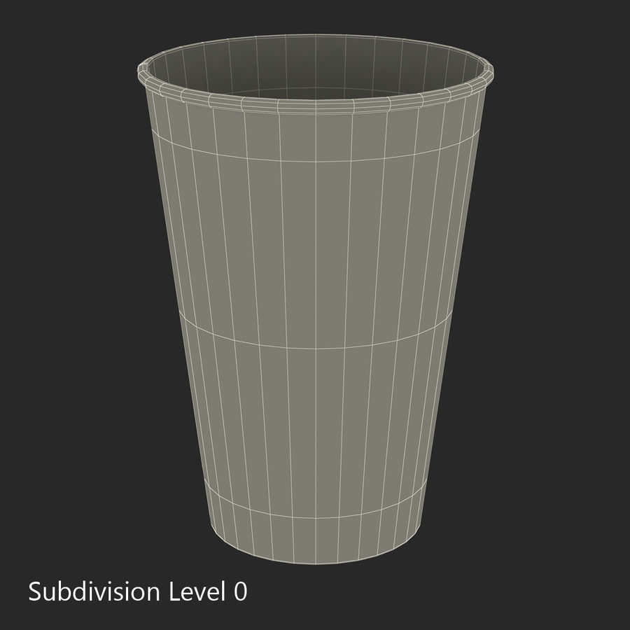 Drink Cup 2 royalty-free 3d model - Preview no. 15