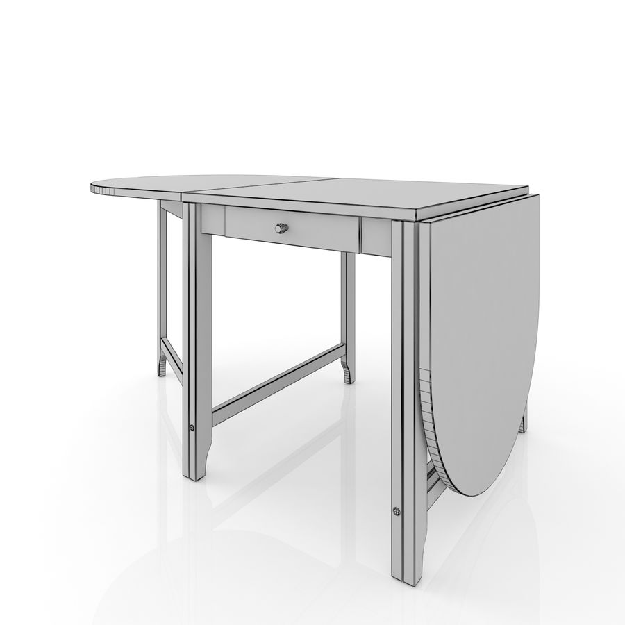 Ikea Gamlebi Folding Table 3d Model 12 Obj Max Fbx 3ds Unknown Free3d