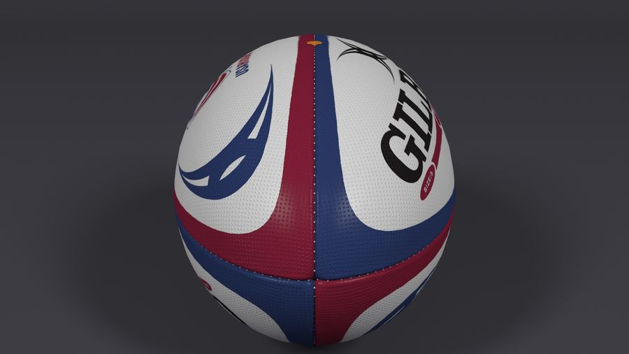 橄榄球 royalty-free 3d model - Preview no. 7