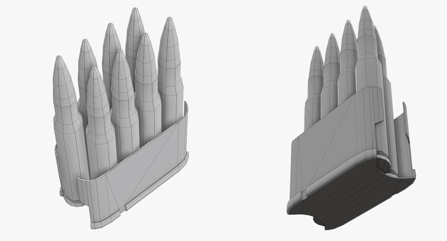 M1ガーランドローポリ royalty-free 3d model - Preview no. 31