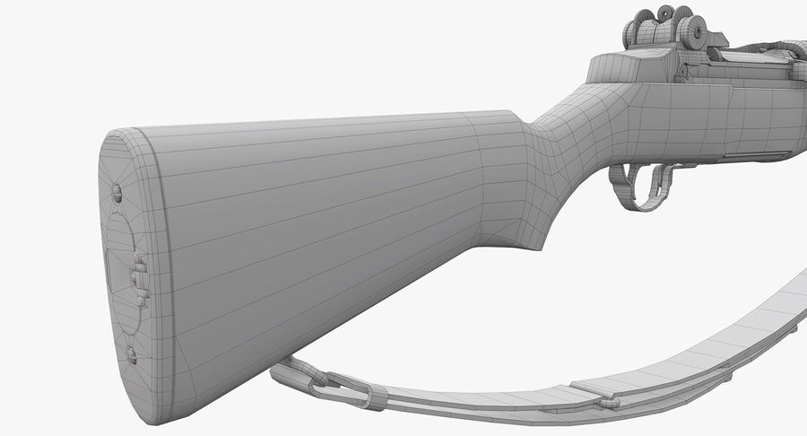 M1ガーランドローポリ royalty-free 3d model - Preview no. 27