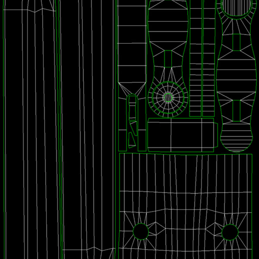 M1ガーランドローポリ royalty-free 3d model - Preview no. 40