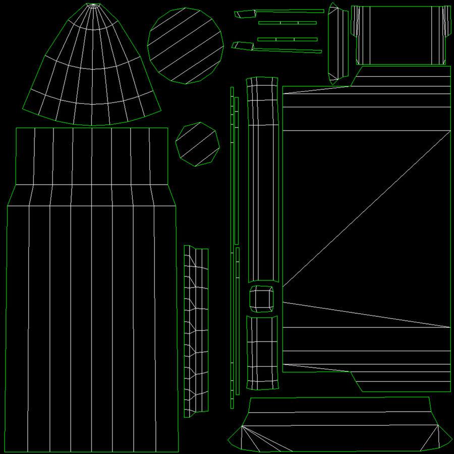 M1ガーランドローポリ royalty-free 3d model - Preview no. 41