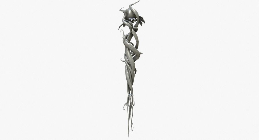 Fantasy Weapon - Staff royalty-free 3d model - Preview no. 3