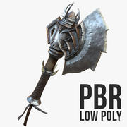 Schlacht Axt Low Poly 3d model