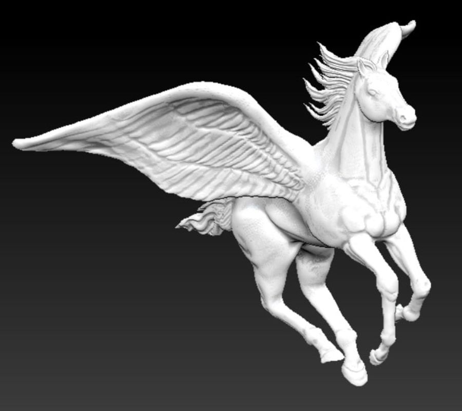 Pegasus royalty-free 3d model - Preview no. 1