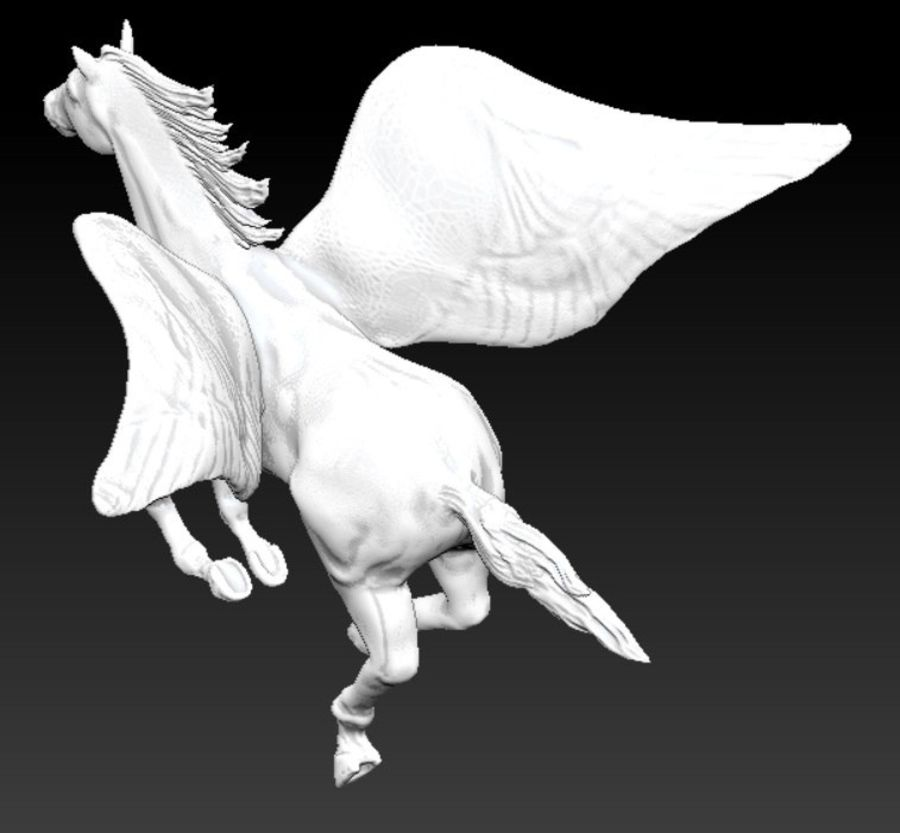 Pegaso royalty-free modelo 3d - Preview no. 3