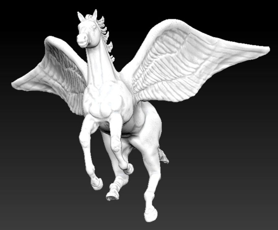pegasus royalty-free 3d model - Preview no. 2