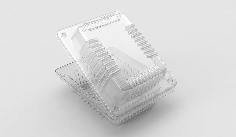 Plastic food container royalty-free 3d model - Preview no. 5