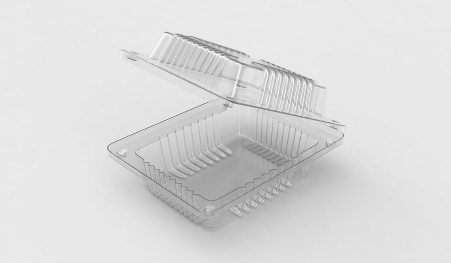 Plastic food container royalty-free 3d model - Preview no. 1