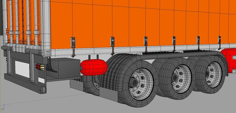 Truck Tractor And Trailers royalty-free 3d model - Preview no. 2