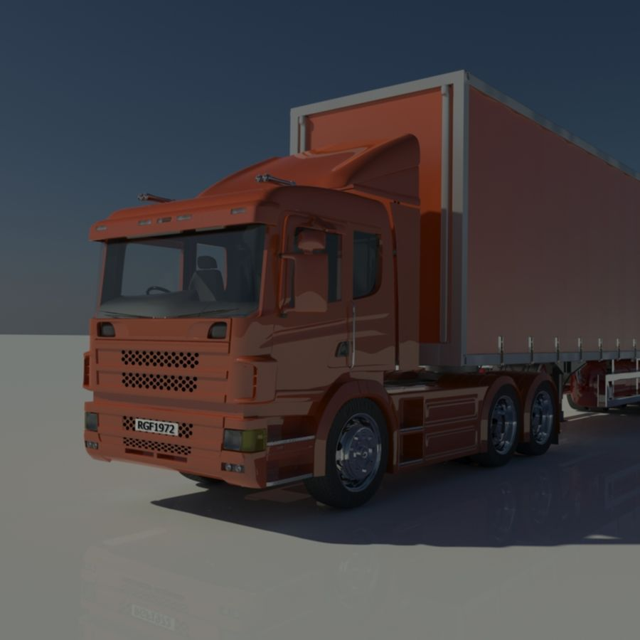 Truck Tractor And Trailers royalty-free 3d model - Preview no. 9