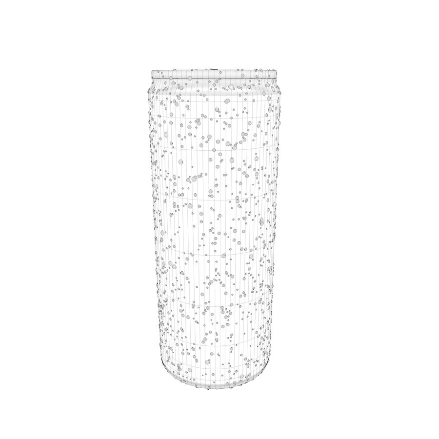Can With Water Gouttes 250ml royalty-free 3d model - Preview no. 11