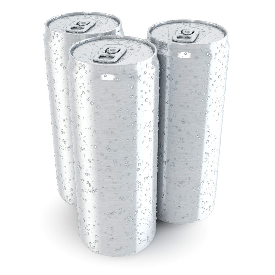 Can With Water Gouttes 250ml royalty-free 3d model - Preview no. 3