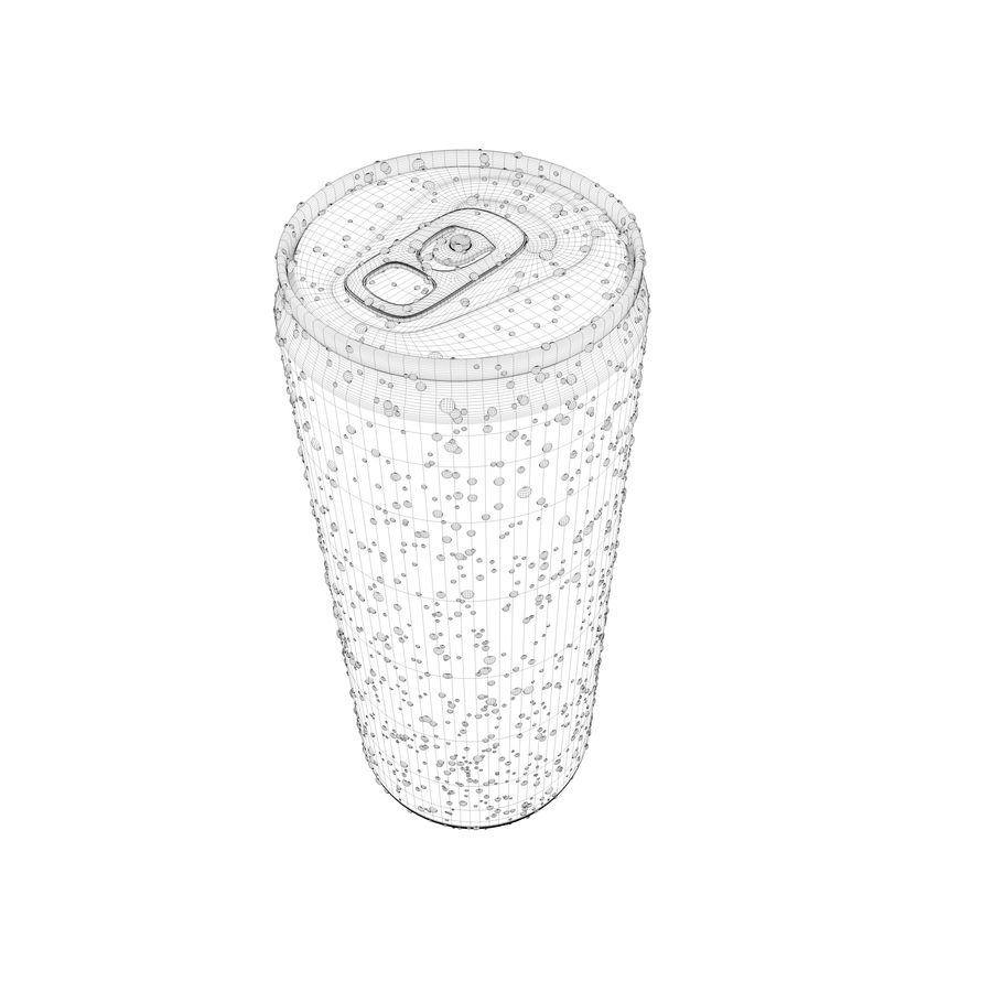 Can With Water Gouttes 250ml royalty-free 3d model - Preview no. 10