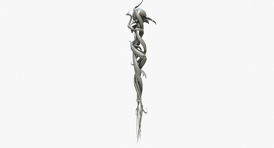 Pakiet broni fantasy royalty-free 3d model - Preview no. 85