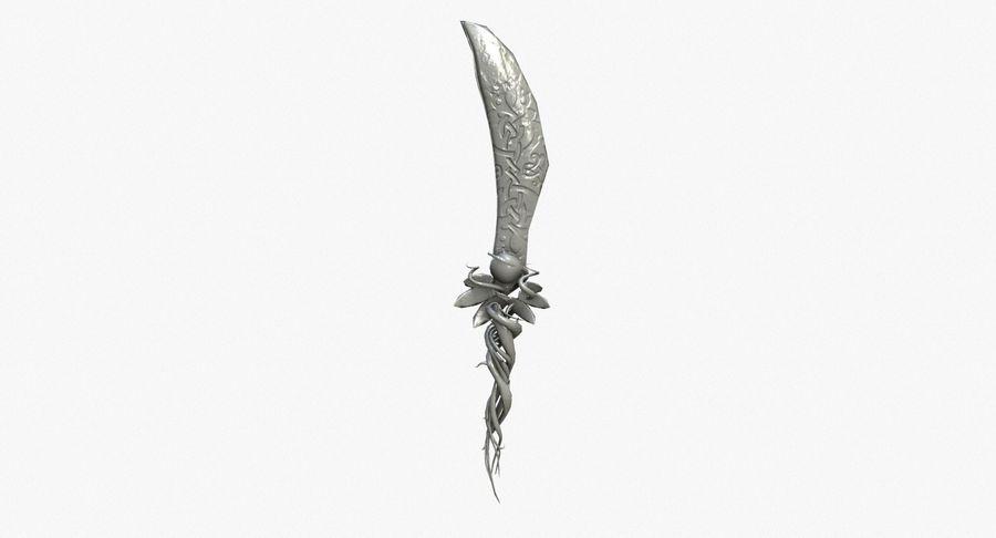 Pakiet broni fantasy royalty-free 3d model - Preview no. 38