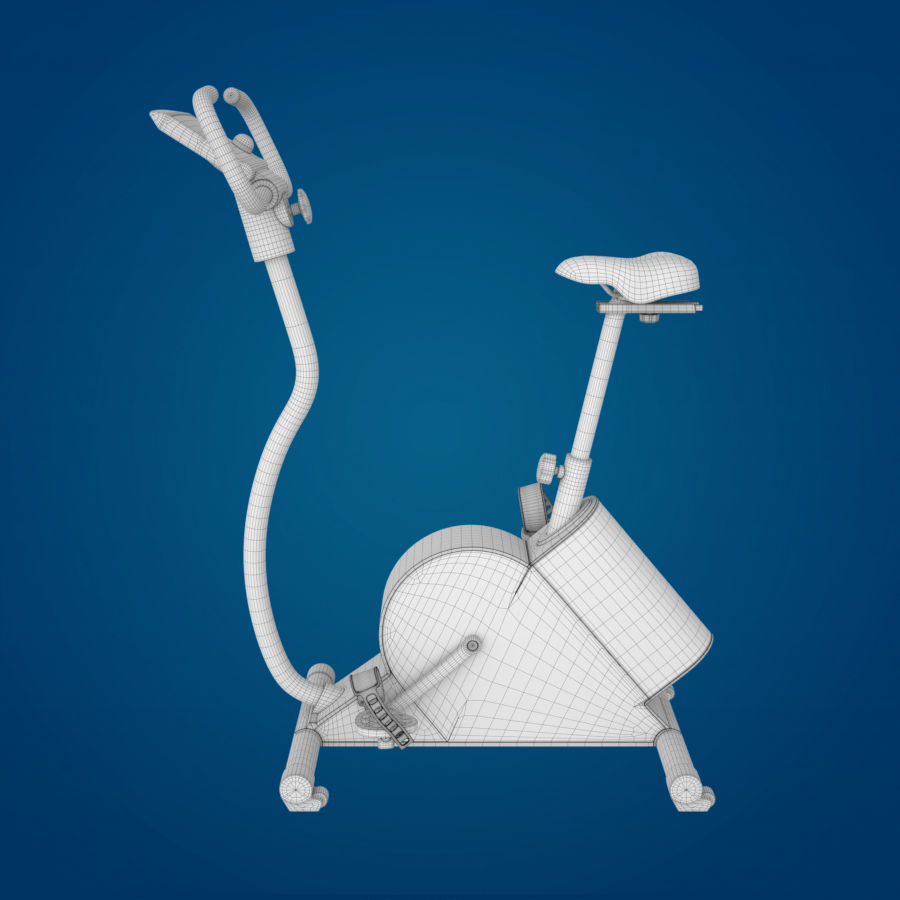 Vélo d'appartement royalty-free 3d model - Preview no. 8