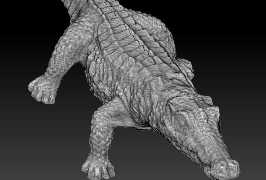 Аллигатор Крокодил royalty-free 3d model - Preview no. 3