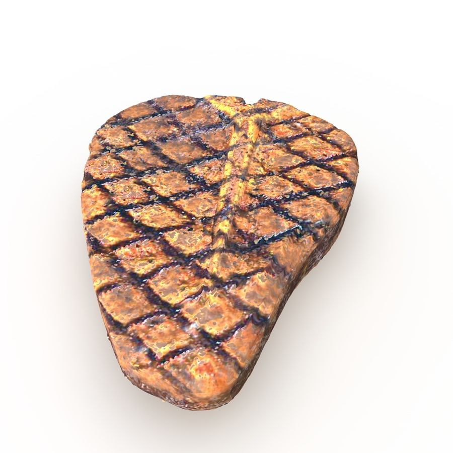 Porterhouse Steak gegrillt royalty-free 3d model - Preview no. 2