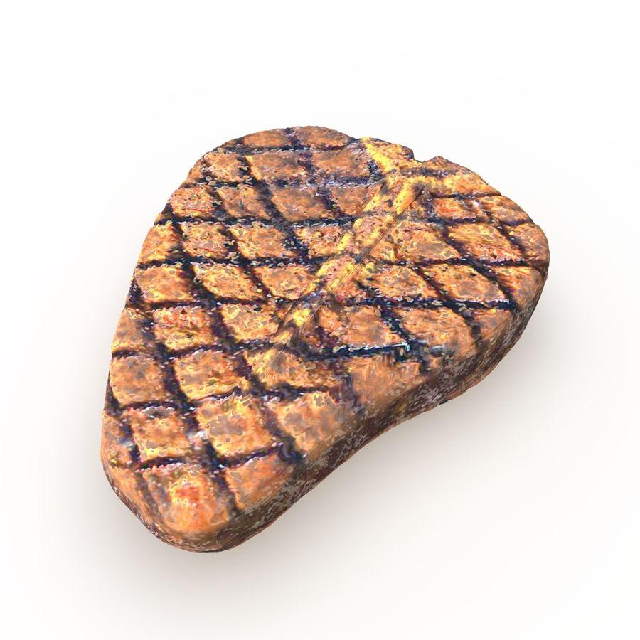 Porterhouse Steak gegrillt royalty-free 3d model - Preview no. 8