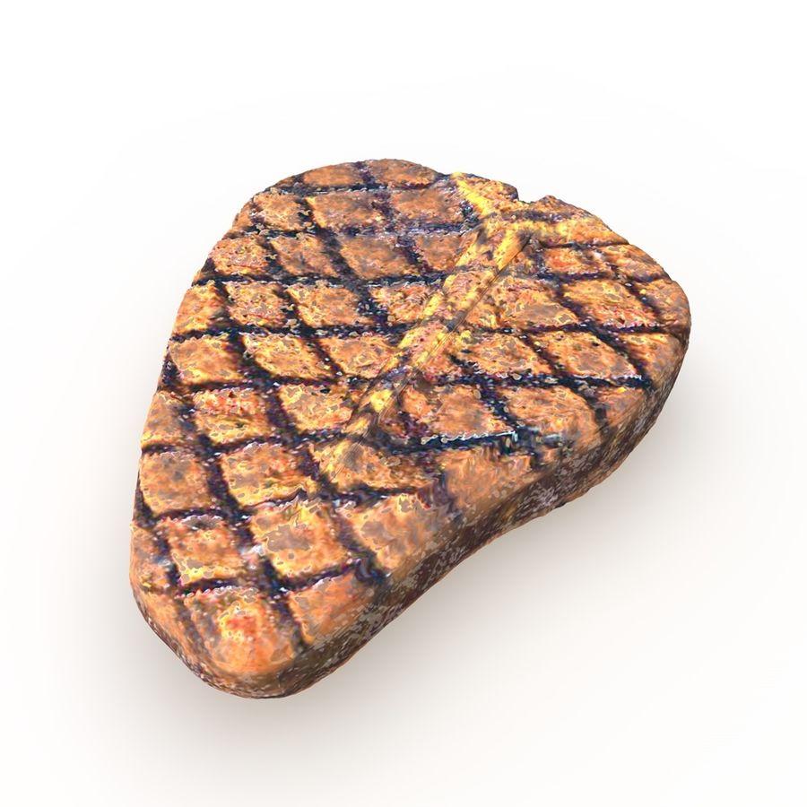 Porterhouse Steak gegrillt royalty-free 3d model - Preview no. 1