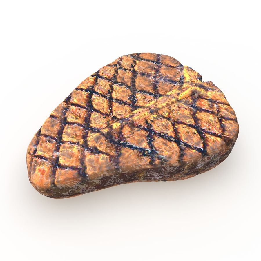 Porterhouse Steak gegrillt royalty-free 3d model - Preview no. 7