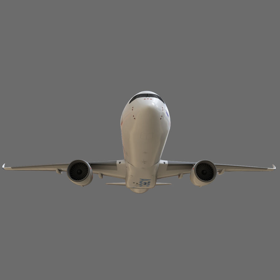 Airbus A350 - 900 royalty-free 3d model - Preview no. 16