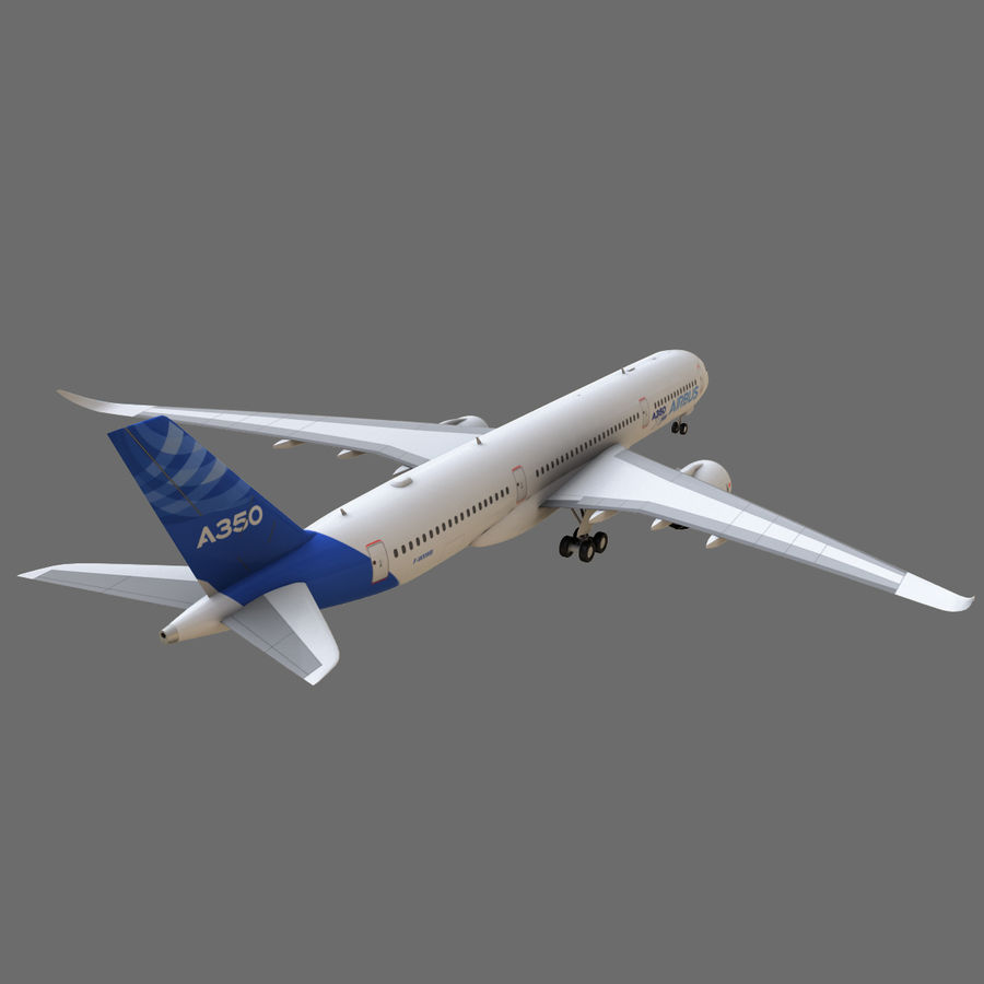 Airbus A350 - 900 royalty-free 3d model - Preview no. 8