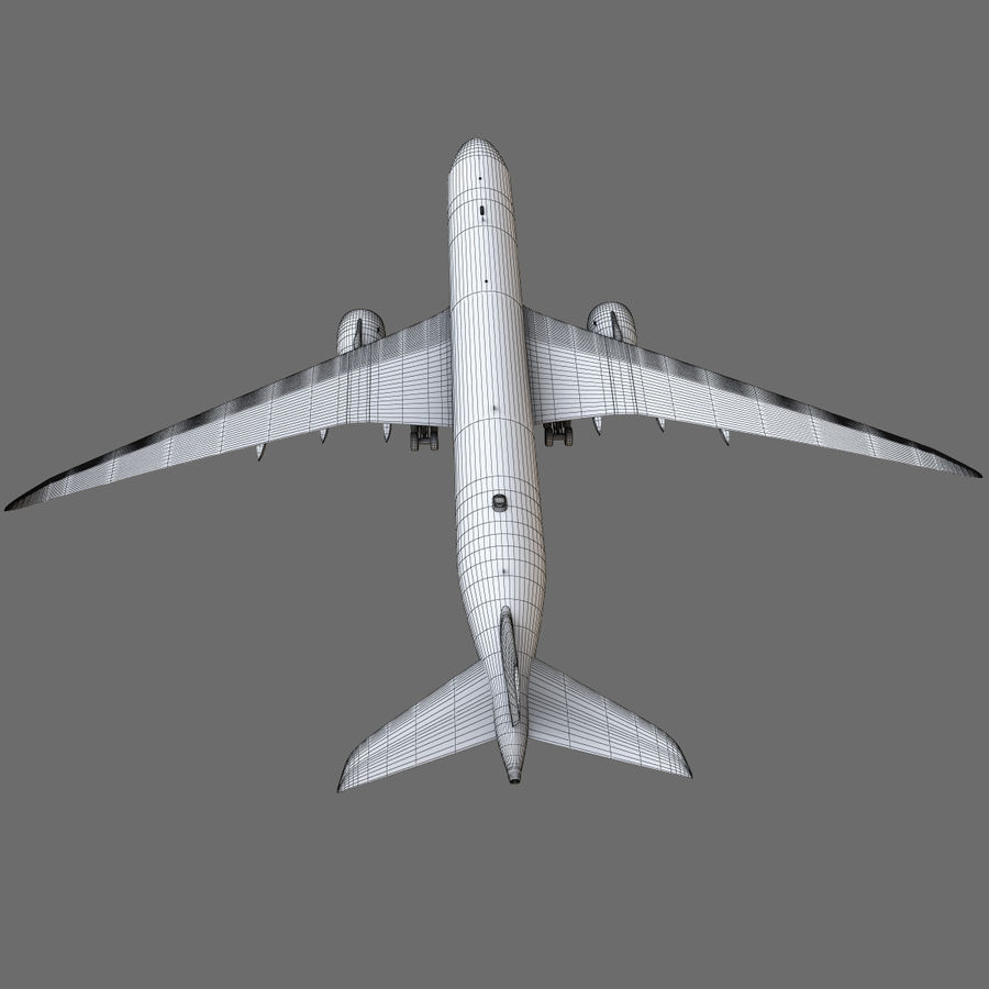 Airbus A350 - 900 royalty-free 3d model - Preview no. 22