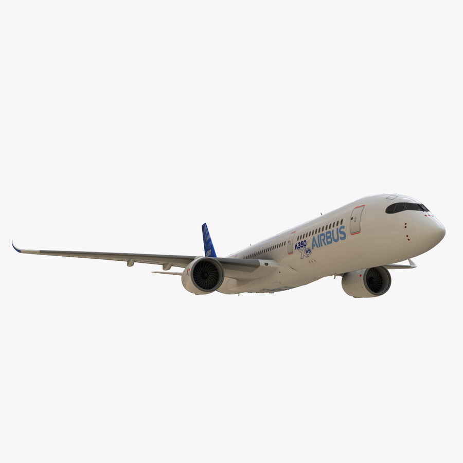 Airbus A350 - 900 royalty-free 3d model - Preview no. 11