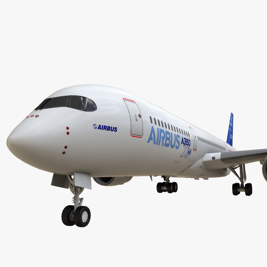Airbus A350 - 900 royalty-free 3d model - Preview no. 17