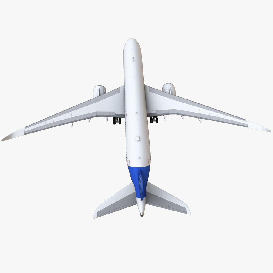 Airbus A350 - 900 royalty-free 3d model - Preview no. 21