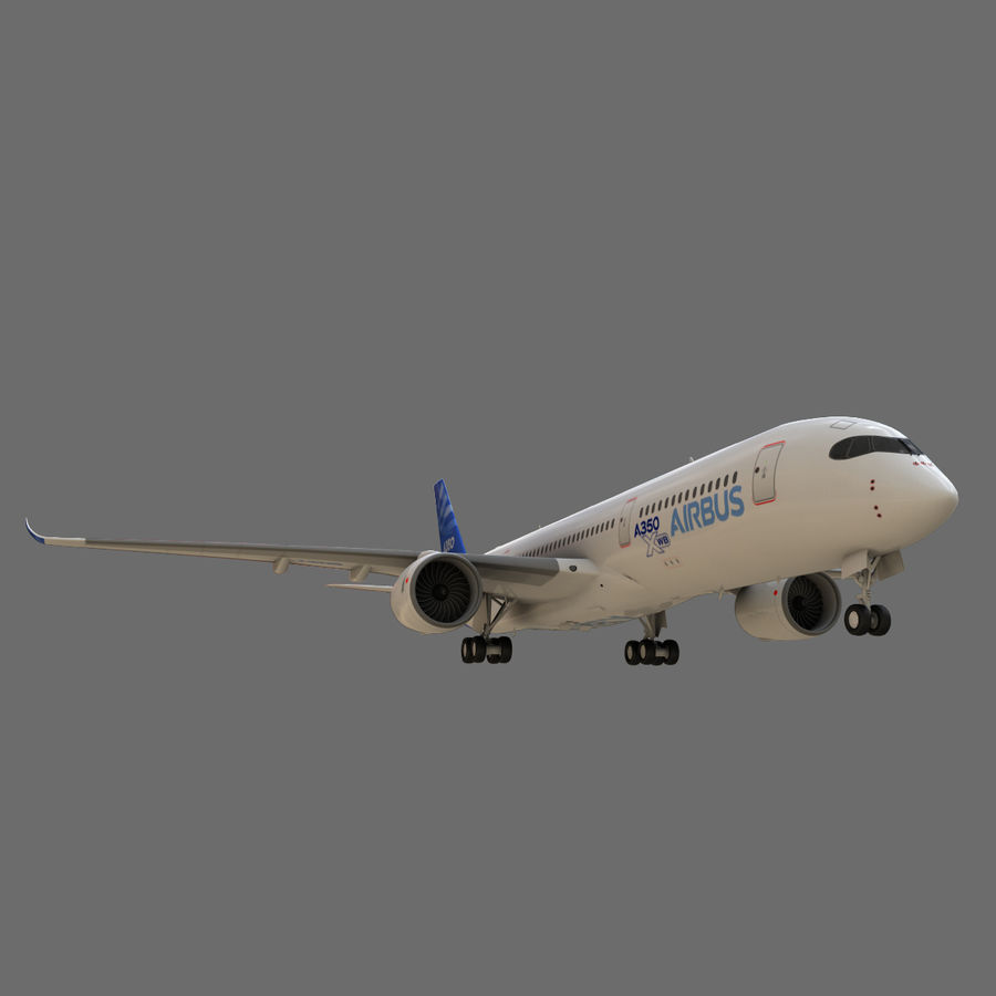 Airbus A350 - 900 royalty-free 3d model - Preview no. 12