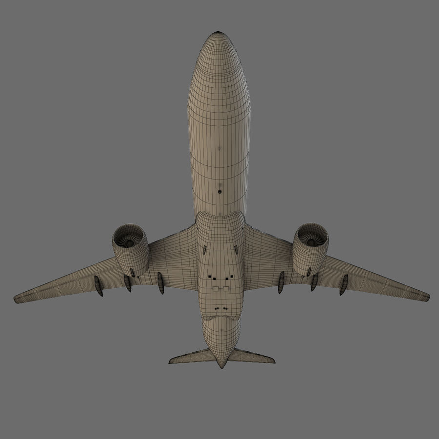 Airbus A350 - 900 royalty-free 3d model - Preview no. 30