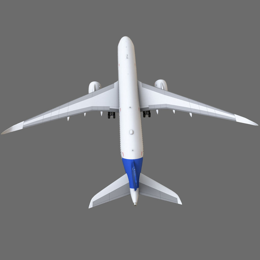 Airbus A350 - 900 royalty-free 3d model - Preview no. 24
