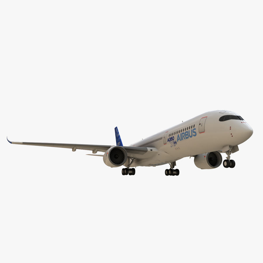 Airbus A350 - 900 royalty-free 3d model - Preview no. 9