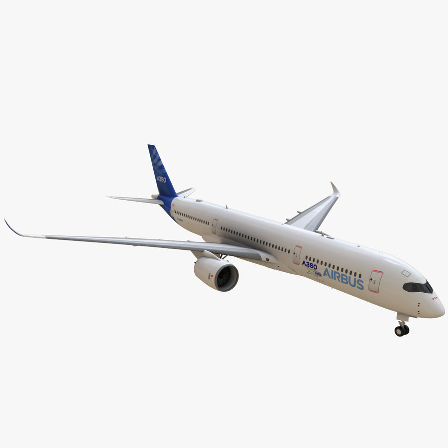 Airbus A350 - 900 royalty-free 3d model - Preview no. 1