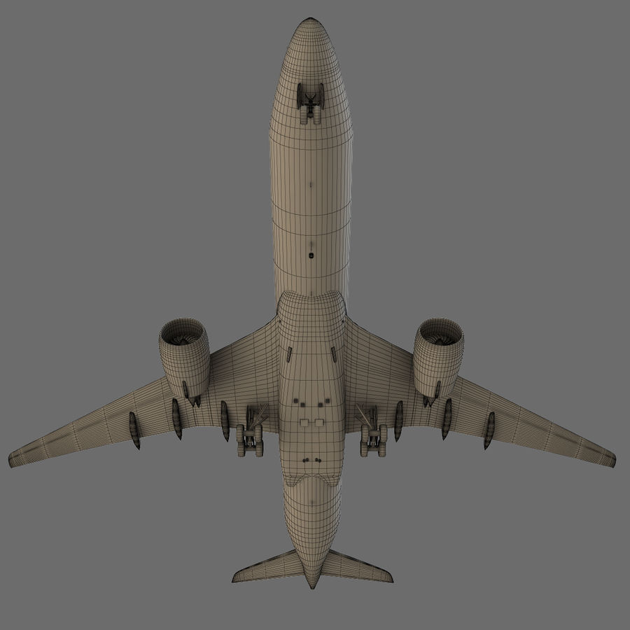 Airbus A350 - 900 royalty-free 3d model - Preview no. 28