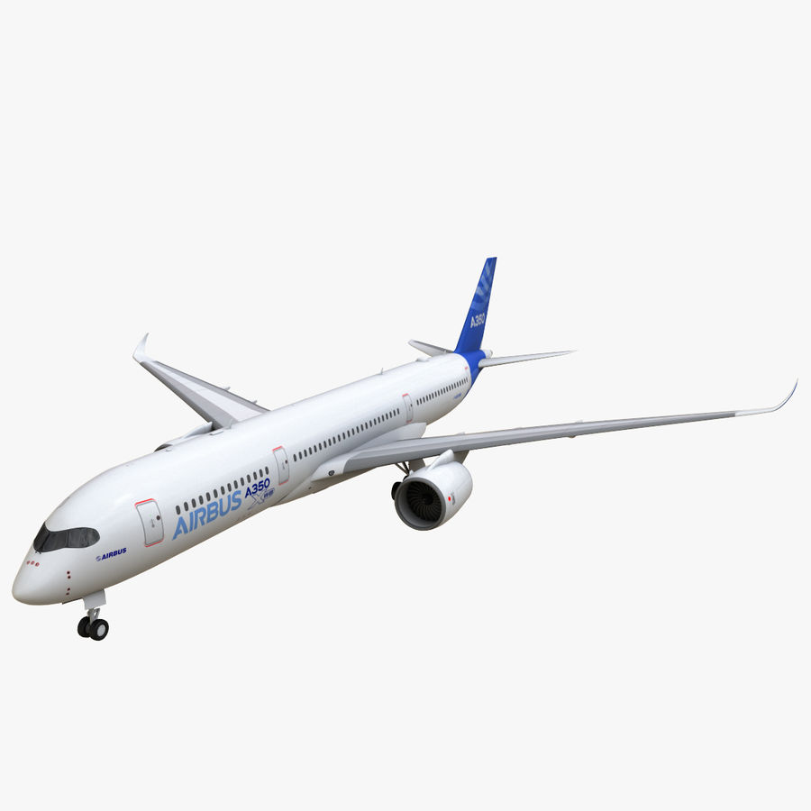 Airbus A350 - 900 royalty-free 3d model - Preview no. 3