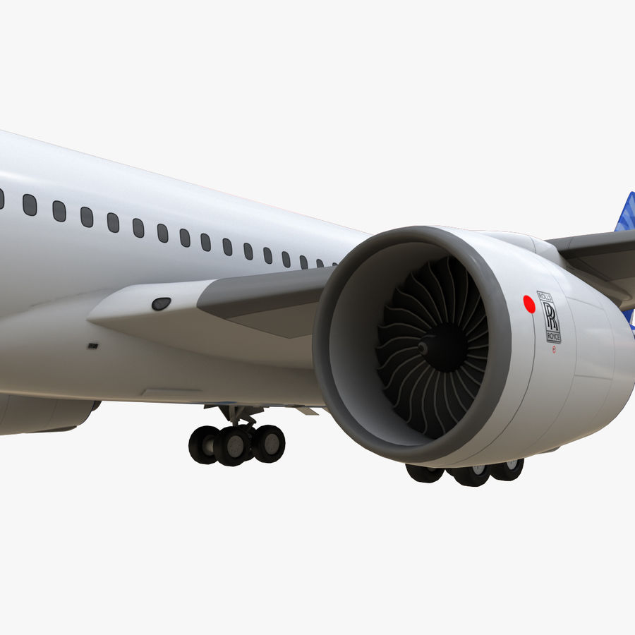 Airbus A350 - 900 royalty-free 3d model - Preview no. 19