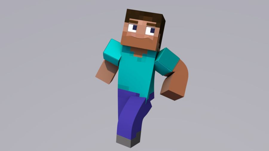 Minecraft Steve royalty-free 3d model - Preview no. 2