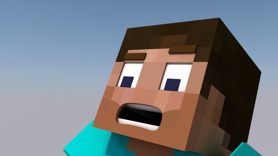 Minecraft Steve royalty-free 3d model - Preview no. 4