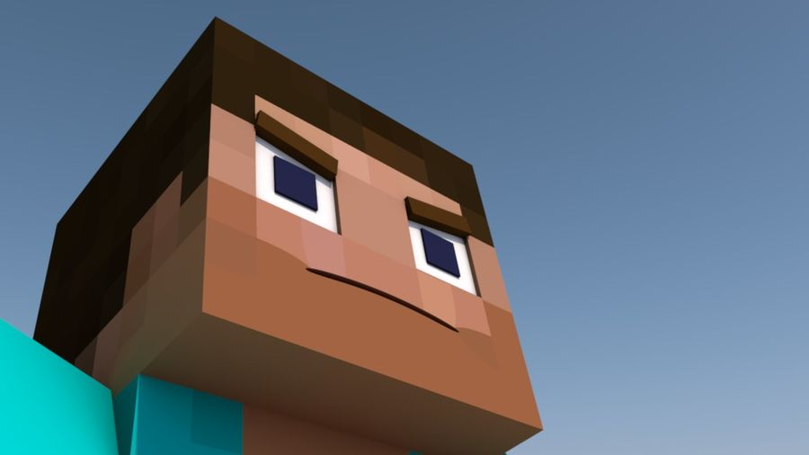 Minecraft Steve royalty-free 3d model - Preview no. 5