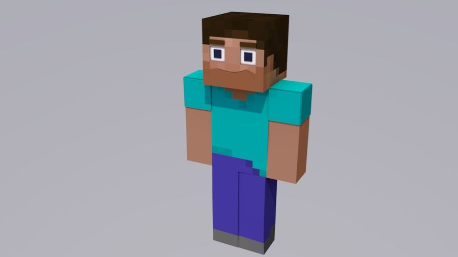 Minecraft Steve royalty-free 3d model - Preview no. 1